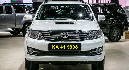 self drive car hire toyota fortuner bangalore