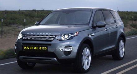 Self Car hire range rover discovery bangalore